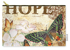 Hope And Butterflies Carry-all Pouch by Jean Plout