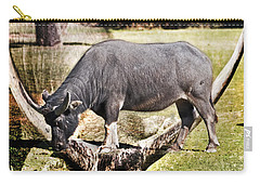 Horn Of A Buffallo Carry-all Pouch