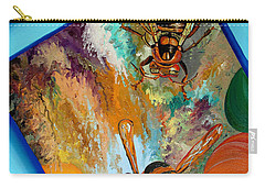 Carry-all Pouch featuring the painting Hornets by Daniel Janda