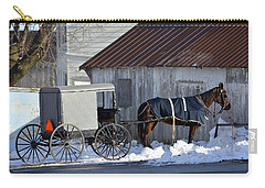 Horse And Buggy Parked Carry-all Pouch