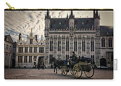 Horse And Carriage Carry-all Pouch by Joan Carroll