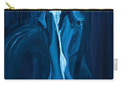 horse - Apple indigo Carry-all Pouch by Go Van Kampen