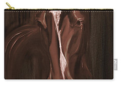 Horse Apple Warm Brown Carry-all Pouch by Go Van Kampen