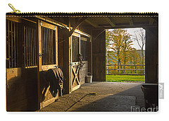 Horse Barn Sunset Carry-all Pouch