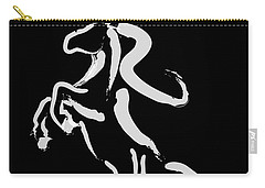 Horse -black And White Beauty Carry-all Pouch by Go Van Kampen