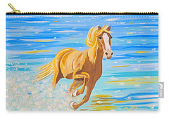 Carry-all Pouch featuring the painting Horse Bright by Phyllis Kaltenbach