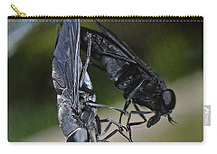 Carry-all Pouch featuring the photograph Horse Fly by DigiArt Diaries by Vicky B Fuller