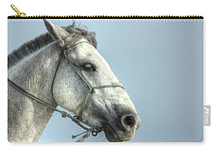 Carry-all Pouch featuring the photograph Horse Head-shot by Eti Reid