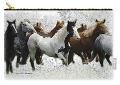 Horse Herd #3 Carry-all Pouch