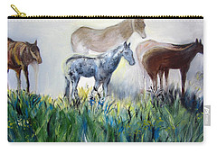 Horses In The Fog Carry-all Pouch