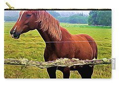 Horse In The Pasture Carry-all Pouch