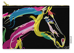 Horse- Lovely Colours Carry-all Pouch by Go Van Kampen