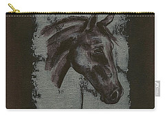 Horse Portrait Carry-all Pouch