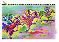 Horse Race  Three Carry-all Pouch by Mary Armstrong