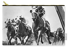 Horse Racing At Belmont Park Carry-all Pouch
