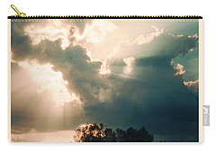 Carry-all Pouch featuring the photograph Horse Rider In The Sky by Belinda Lee