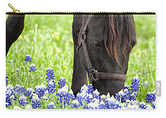 Horse With Bluebonnets Carry-all Pouch