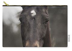 Carry-all Pouch featuring the photograph Horse With Gentle Eyes by Belinda Greb