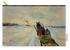 Horse With Sleigh Carry-all Pouch