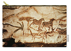 Horses And Deer From The Caves At Altamira, 15000 Bc Cave Painting Carry-all Pouch