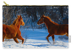 Horses At Play Carry-all Pouch