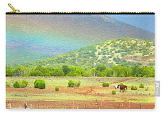 Horses At The End Of The Rainbow Carry-all Pouch