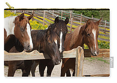 Horses Behind A Fence Carry-all Pouch