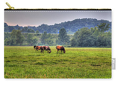 Horses In A Field 2 Carry-all Pouch