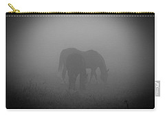 Horses In The Mist. Carry-all Pouch by Cheryl Baxter
