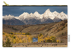 Horses On The Gros Ventre River Carry-all Pouch