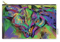 Horses Together In Colour Carry-all Pouch by Go Van Kampen