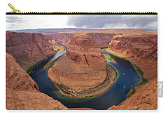 Horseshoe Bend View 1 Carry-all Pouch by David Beebe