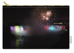 Horseshoe Falls With Fireworks Carry-all Pouch