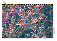 Carry-all Pouch featuring the digital art Host Of Angels Pink by First Star Art