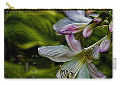 Hosta Lilies With Texture Carry-all Pouch