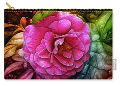 Hot And Silky Pink Rose Carry-all Pouch
