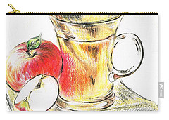 Hot Apple Cider Carry-all Pouch by Teresa White