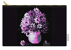 Hot Pink Flowers Carry-all Pouch