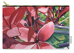 Hot Pink Plumeria Carry-all Pouch