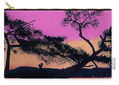 Carry-all Pouch featuring the drawing Hot Pink Sunset by D Hackett