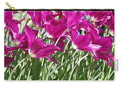 Carry-all Pouch featuring the photograph Hot Pink Tulips 2 by Allen Beatty
