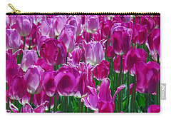 Hot Pink Tulips 3 Carry-all Pouch by Allen Beatty