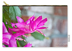 Hot Pink Christmas Cactus Flower Art Prints Carry-all Pouch