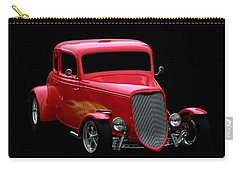 Vehicles Carry-all Pouch featuring the photograph Hot Rod Red by Aaron Berg