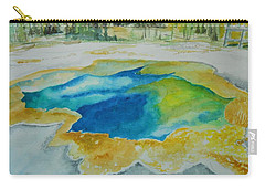 Hot Springs Yellowstone National Park Carry-all Pouch by Geeta Biswas