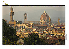 Hot Summer Afternoon In Florence Italy Carry-all Pouch by Georgia Mizuleva