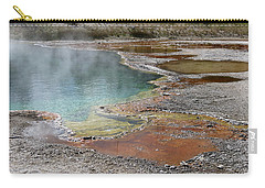Hot Water At Yellowstone Carry-all Pouch by Laurel Powell