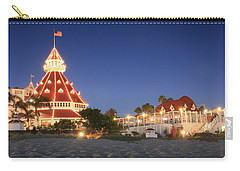 Hotel Del At Night Carry-all Pouch by Scott Cunningham