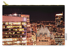 Carry-all Pouch featuring the photograph Hotel Vancouver And Wall Center Mdccv by Amyn Nasser