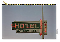 Hotel Waterville Neon Sign Carry-all Pouch